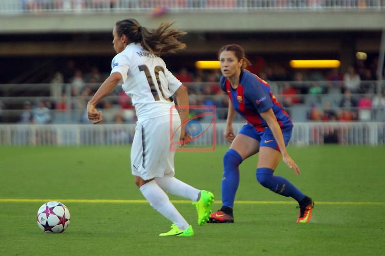 UEFA Women's Champions League 2016/2017.<br /> Quarter Finals.<br /> FC Barcelona vs FC Rosengard: 2-0.<br /> Marta Vieira vs Vicky Losada.