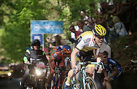 Maarten Tjallingii (NLD/LottoNL-Jumbo) bites his way up the last (& only) KOM<br /> <br /> stage 2: Arnhem-Nijmegen (NLD) 190km<br /> 99th Giro d'Italia 2016