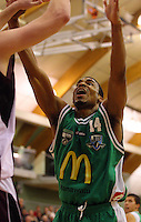 New Jets import Daryl Hudson during the NBL match between Manawatu Jets and Harbour Heat at Arena Manawatu, Palmerston North, New Zealand on Saturday 17 April 2010. Photo: Dave Lintott / lintottphoto.co.nz