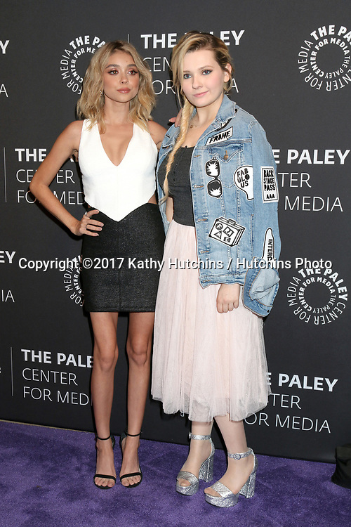 "LOS ANGELES - MAY 18:  Sarah Hyland, Abigail Breslin at the 2017 PaleyLive LA - ""Dirty Dancing: The New ABC Musical Event"" Premiere Screening And Conversation at the Paley Center for Media on May 18, 2017 in Beverly Hills, CA"