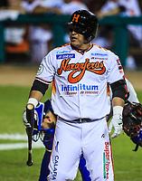 Jose Amador de Naranjeros, durante la apertura de la temporada de beisbol de la Liga Mexicana del Pacifico 2017 2018 con el partido entre Naranjeros vs Yaquis. 11 octubre2017 . <br /> (Foto: Luis Gutierrez /NortePhoto.com)