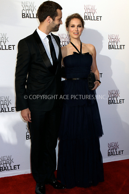 WWW.ACEPIXS.COM . . . . .  ....May 10 2012, New York City....Dancer Benjamin Millepied and Honorary Chairman, actress Natalie Portman  arriving at the 2012 New York City Ballet Spring Gala at the David Koch Theatre at Lincoln Center on May 10, 2012 in New York City.....Please byline: NANCY RIVERA- ACEPIXS.COM.... *** ***..Ace Pictures, Inc:  ..Tel: 646 769 0430..e-mail: info@acepixs.com..web: http://www.acepixs.com