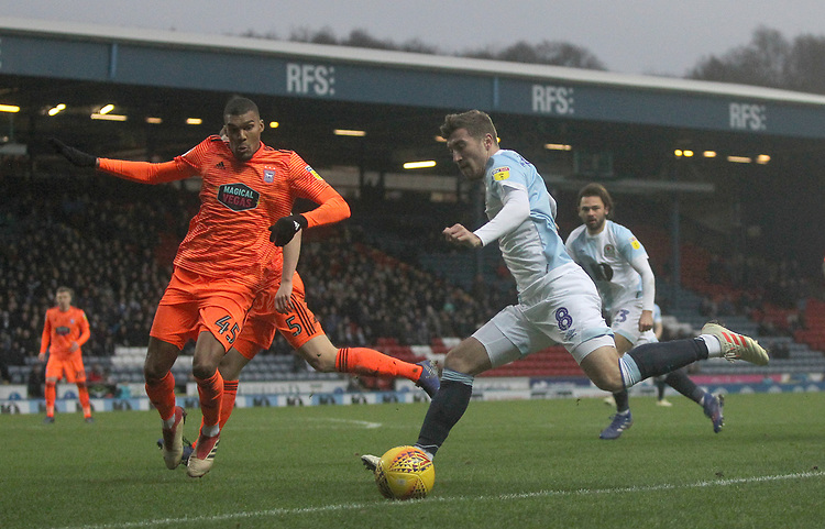 Blackburn Rovers Joe Rothwell gets a shot on goal<br /> <br /> Photographer Mick Walker/CameraSport<br /> <br /> The EFL Sky Bet Championship - Blackburn Rovers v Ipswich Town - Saturday 19 January 2019 - Ewood Park - Blackburn<br /> <br /> World Copyright &copy; 2019 CameraSport. All rights reserved. 43 Linden Ave. Countesthorpe. Leicester. England. LE8 5PG - Tel: +44 (0) 116 277 4147 - admin@camerasport.com - www.camerasport.com