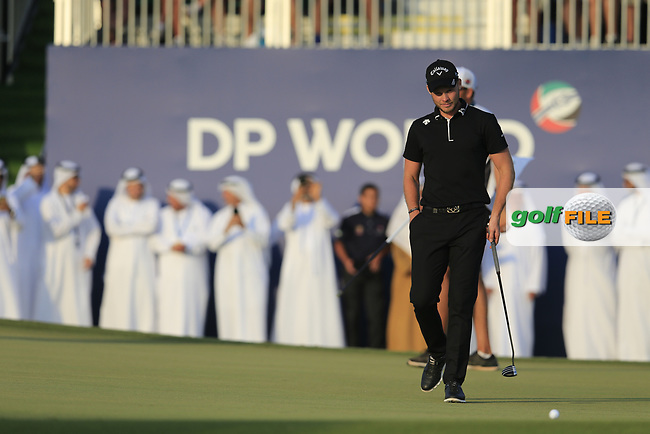 Danny Willett (ENG) on his way to winning the DP World Tour Championship, Jumeirah Golf Estates, Dubai, United Arab Emirates. 18/11/2018<br /> Picture: Golffile | Fran Caffrey<br /> <br /> <br /> All photo usage must carry mandatory copyright credit (&copy; Golffile | Fran Caffrey)
