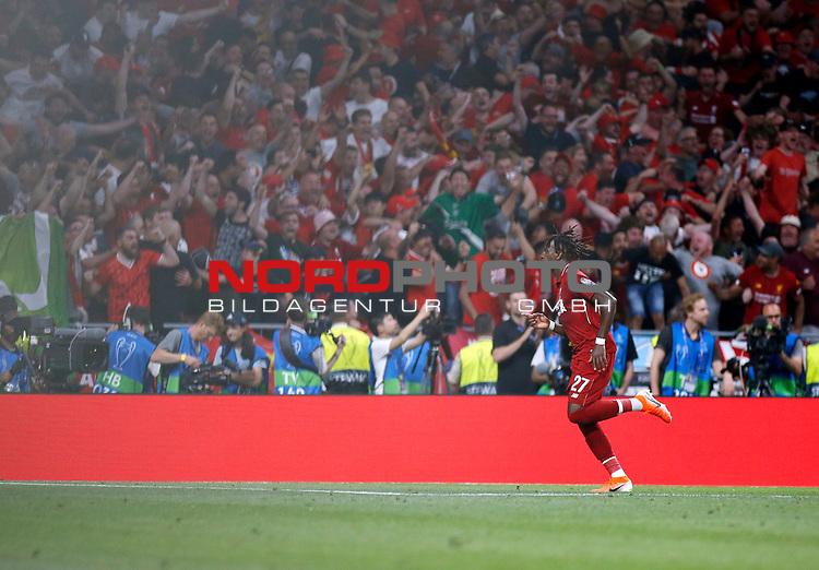 Liverpool's FC Divock Origi during UEFA Champions League match, Final Roundl between Tottenham Hotspur FC and Liverpool FC at Wanda Metropolitano Stadium in Madrid, Spain. June 01, 2019.(Foto: nordphoto / Alterphoto /Manu R.B.)