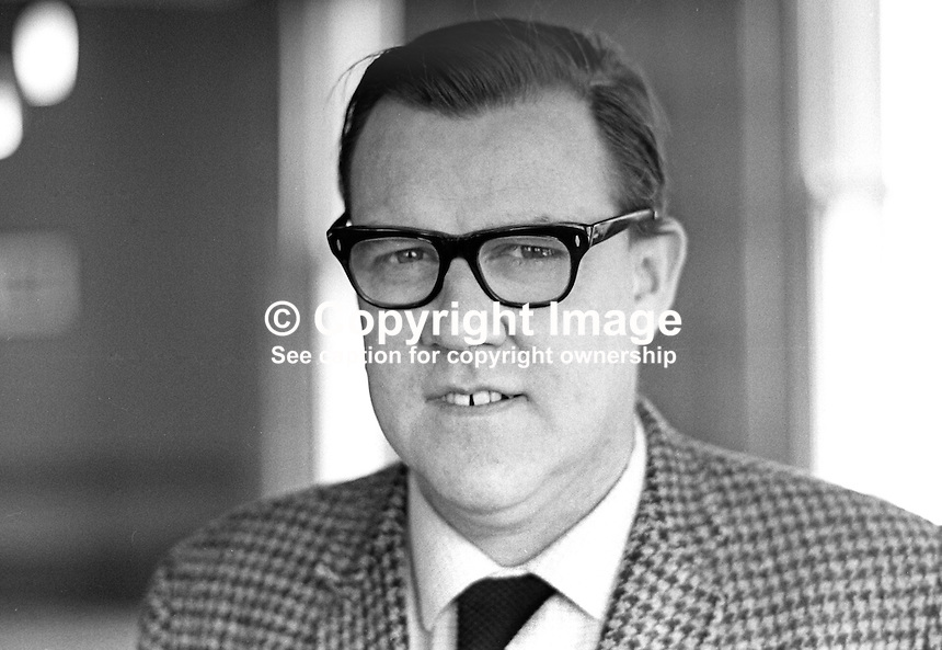 Michael McKeown, candidate, NDP, National Democratic Party, Clifton, Belfast, N Ireland General Election, Stormont Parliament, February, 1969, 196002000034<br /> <br /> <br /> Copyright Image from<br /> Victor Patterson<br /> 54 Dorchester Park<br /> Belfast, N Ireland, UK, <br /> BT9 6RJ<br /> <br /> t1: +44 28 90661296<br /> t2: +44 28 90022446<br /> m: +44 7802 353836<br /> e1: victorpatterson@me.com<br /> e2: victorpatterson@gmail.com<br /> <br /> www.victorpatterson.com