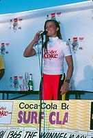 Wendy Botha (AUS) winner of the Diet Coke Surf Classic at Narrabeen Beach, Sydney, Australia circa 1991 - Photo: joliphotos.com