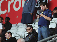 Preston North End fans enjoy the pre-match atmosphere <br /> <br /> Photographer Kevin Barnes/CameraSport<br /> <br /> The EFL Sky Bet Championship - Swansea City v Preston North End - Saturday August 11th 2018 - Liberty Stadium - Swansea<br /> <br /> World Copyright &copy; 2018 CameraSport. All rights reserved. 43 Linden Ave. Countesthorpe. Leicester. England. LE8 5PG - Tel: +44 (0) 116 277 4147 - admin@camerasport.com - www.camerasport.com