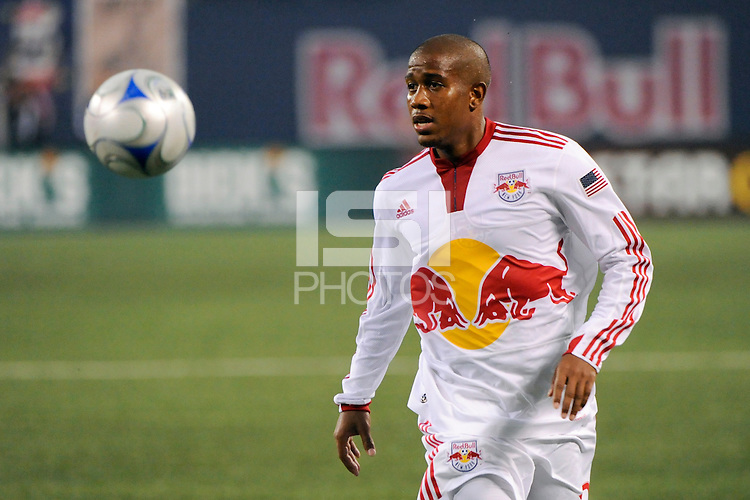 Jeremy Hall (17) of the New York Red Bulls. The New York Red Bulls  and the Seattle Sounders played to a 1-1 tie during a Major League Soccer match at Giants Stadium in East Rutherford, NJ, on June 20, 2009.