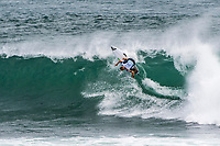 MARGARET RIVER, Western Australia/AUS (Saturday, April 14, 2018) Bronte MacAulay (AUS) at Nth Point.- Stop No. 3 on the World Surf League (WSL) Championship Tour, the Margaret River Pro, continued today with the remaining heats of men&rsquo;s Round 1 and women&rsquo;s Round 1 in heavy four-to-six foot (1.2 - 1.8 metre) waves at North Point.<br /> <br /> North Point, the backup site known for its intense, barreling waves, hosted the world&rsquo;s best female CT surfers for the first time in history today. Despite the slower and more challenging conditions, the women dominated the day, including the highest single-wave scores of the event from Tatiana Weston-Webb (HAW) and Carissa Moore (HAW).  <br /> <br /> 2012 WSL Champion Joel Parkinson (AUS) beat Michel Bourez (PYF) and Patrick Gudauskas (USA) to close out the men&rsquo;s competition in Heat 12. Parkinson&rsquo;s heat total of a 10.34 was the highest of the men's morning as conditions slowed over the low tide, showing experience pays at the elite level.Photo: joliphotos.com