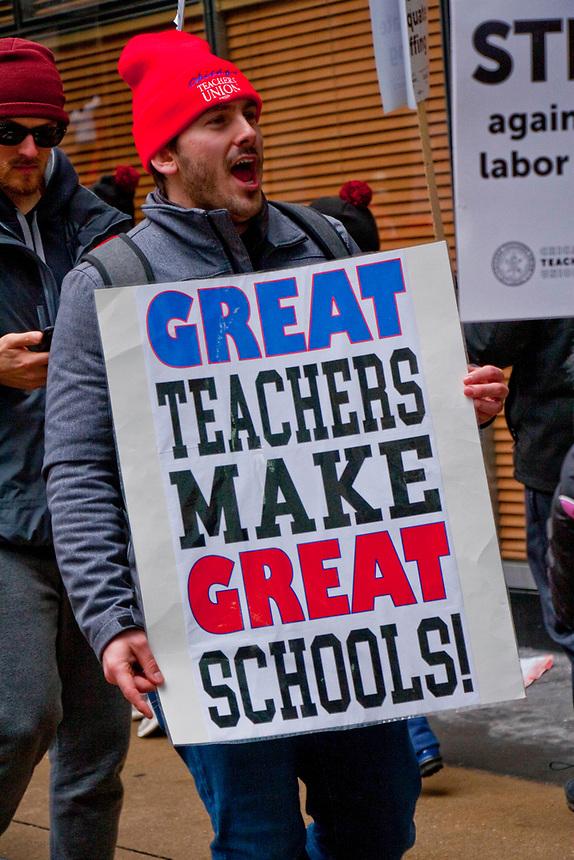 CICS Teachers Strike Chicago Illinois February 2019