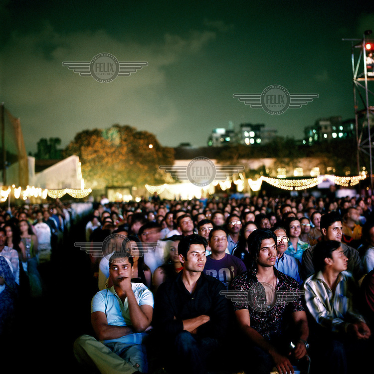 Spectators at Gladrags, one of India's many model contests, broadcast live to over 30 million television viewers..
