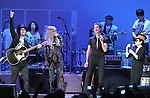 Sean Lennon,Lady Gaga,Yoko Ono and Perry Farrell performs with We are Plastic Ono Band on night 2 at The Orpheum Theatre in Downtown Los Angeles, California on October 02,2010                                                                   Copyright 2010  Debbie VanStory / RockinExposures