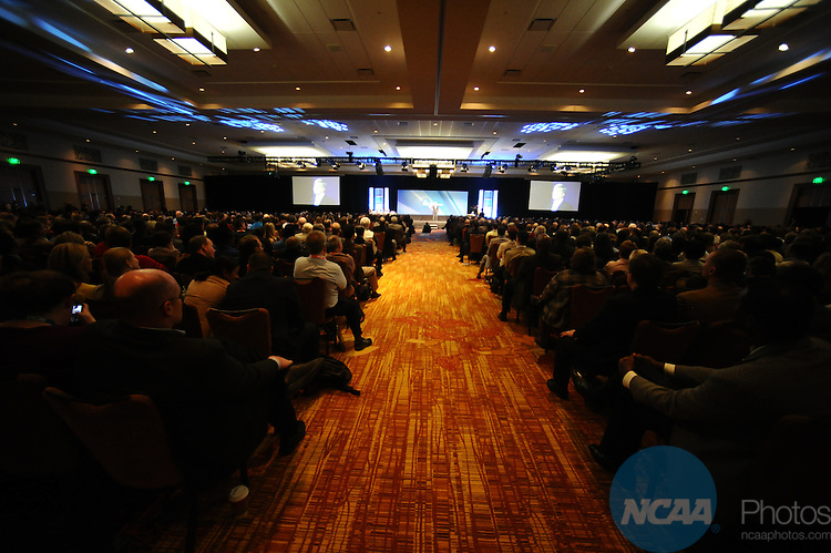 11 JAN 2012: The Opening Business Session at the 2012 NCAA Convention held at the JW Marriott and Indianapolis Convention Center in Indianapolis, IN.  Stephen Nowland/NCAA Photos.Pictured: Mark Emmert