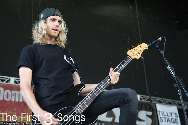 Cam Adler of Tonight Alive performs during the Vans Warped Tour at the Klipsch Music Center in Indianapolis, IN.