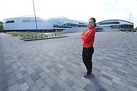 SCHAATSEN: HEERENVEEN: 12-07-2017, IJsstadion Thialf, training zomerijs, Zhang Hong, ©foto Martin de Jong