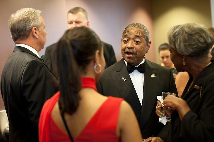 President Roderick McDavis speaks with people at the Promise Lives Campaign Celebration Gala on Friday, Sept. 11, 2015. Photo by Kaitlin Owens