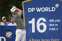 Bernd Wiesberger (AUT) on the 16th tee during the 1st round of the DP World Tour Championship, Jumeirah Golf Estates, Dubai, United Arab Emirates. 21/11/2019<br /> Picture: Golffile | Fran Caffrey<br /> <br /> <br /> All photo usage must carry mandatory copyright credit (© Golffile | Fran Caffrey)
