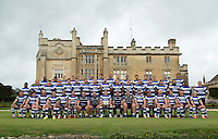 Bath Rugby players and coaches pose for a portrait at a Bath Rugby photocall. Bath Rugby Media Day on August 28, 2014 at Farleigh House in Bath, England. Photo by: Patrick Khachfe / Onside Images