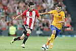 Athletic de Bilbao's Markel Susaeta (l) and FC Barcelona's Pedro Rodriguez during Supercup of Spain 1st match.August 14,2015. (ALTERPHOTOS/Acero)