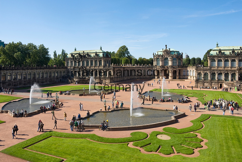 Deutschland, Freistaat Sachsen, Dresden: Zwinger, barockes Bauwerk, Wallpavillon | Germany, the Free State of Saxony, Dresden: Zwinger Palace, baroque building, Wall Pavilion