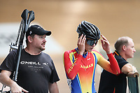 Fisher Black-Finn of Tasman after competing in the U17 Boys Sprint race  at the Age Group Track National Championships, Avantidrome, Home of Cycling, Cambridge, New Zealand, Friday, March 17, 2017. Mandatory Credit: © Dianne Manson/CyclingNZ  **NO ARCHIVING**