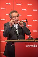 """Der Parteivorsitzende der Linkspartei, Bernd Riexinger und der stellv. Vorsitzende der Bundestagsfraktion der Linkspartei, Klaus Ernst (im Bild), stellten am Montag den 28. August 2017 Ueberlegungen des Parteivorstandes zum """"Normalarbeitsverhaeltnis als linke Antwort fuer die Zukunft der Arbeit"""" vor.<br /> 28.8.2017, Berlin<br /> Copyright: Christian-Ditsch.de<br /> [Inhaltsveraendernde Manipulation des Fotos nur nach ausdruecklicher Genehmigung des Fotografen. Vereinbarungen ueber Abtretung von Persoenlichkeitsrechten/Model Release der abgebildeten Person/Personen liegen nicht vor. NO MODEL RELEASE! Nur fuer Redaktionelle Zwecke. Don't publish without copyright Christian-Ditsch.de, Veroeffentlichung nur mit Fotografennennung, sowie gegen Honorar, MwSt. und Beleg. Konto: I N G - D i B a, IBAN DE58500105175400192269, BIC INGDDEFFXXX, Kontakt: post@christian-ditsch.de<br /> Bei der Bearbeitung der Dateiinformationen darf die Urheberkennzeichnung in den EXIF- und  IPTC-Daten nicht entfernt werden, diese sind in digitalen Medien nach §95c UrhG rechtlich geschuetzt. Der Urhebervermerk wird gemaess §13 UrhG verlangt.]"""