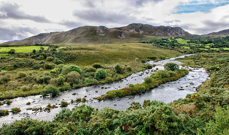 A landscape on the scenic Ring of Kerry, County Kerry, Ireland