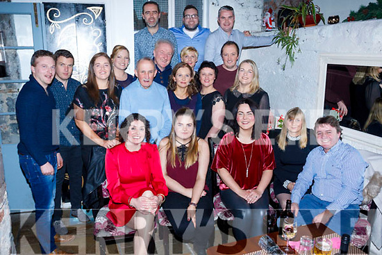 Staff of Gaelcholáiste Chiarraí enjoying their Christmas Party in the Croi Restaurant, Tralee on Friday night last.