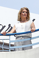 Alice Taglioni during a shooting at the Martinez hotel - 67th Cannes Film Festival