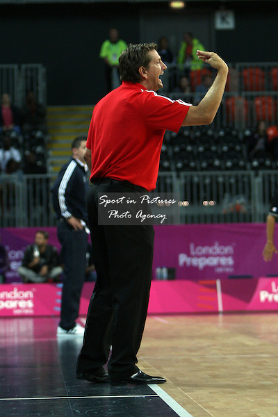Great Britain Head Coach Chris Finch. Great Britain v Croatia. The London International Basketball Invitational. London Prepares for Olympics 2012. Basketball Arena, Olympic Park. London. 17/08/2011. MANDATORY Credit Sportinpictures/Paul Chesterton - NO UNAUTHORISED USE - 07837 394578.
