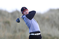 Joshua Robinson (Lisburn) on the 11th tee during Round 3 of the Ulster Boys Championship at Portrush Golf Club, Portrush, Co. Antrim on the Valley course on Thursday 1st Nov 2018.<br /> Picture:  Thos Caffrey / www.golffile.ie<br /> <br /> All photo usage must carry mandatory copyright credit (&copy; Golffile | Thos Caffrey)