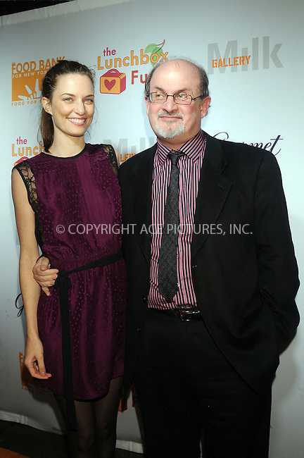 WWW.ACEPIXS.COM . . . . . ....December 11 2008, New York City....Salman Rushdie and Topaz Paige-Green at the Lunchbox Auction presented by Gourmet Magazine, to benefit the Food Bank of New York City and The Lunchbox Fund of South Africa at Milk Studios on December 11, 2008 in New York City....Please byline: KRISTIN CALLAHAN - ACEPIXS.COM.. . . . . . ..Ace Pictures, Inc:  ..tel: (212) 243 8787 or (646) 769 0430..e-mail: info@acepixs.com..web: http://www.acepixs.com