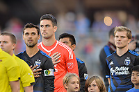 San Jose, CA - Monday July 10, 2017: Andrew Tarbell prior to a U.S. Open Cup quarterfinal match between the San Jose Earthquakes and the Los Angeles Galaxy at Avaya Stadium.