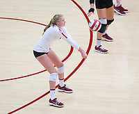 STANFORD, CA - November 4, 2018: Kate Formico at Maples Pavilion. No. 2 Stanford Cardinal defeated the Utah Utes 3-0.