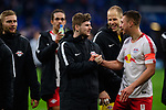 16.03.2019, VELTINS Arena, Gelsenkirchen, Deutschland, GER, 1. FBL, FC Schalke 04 vs. RB Leipzig<br /> <br /> DFL REGULATIONS PROHIBIT ANY USE OF PHOTOGRAPHS AS IMAGE SEQUENCES AND/OR QUASI-VIDEO.<br /> <br /> im Bild Jubel Timo Werner (#11 Leipzig), Willi Orban (#4 Leipzig) nach Sieg<br /> <br /> Foto © nordphoto / Kurth