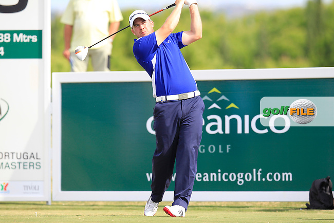 Richie Ramsay (SCO) tees off the 15th tee during Sunday's Final Round of the 2013 Portugal Masters held at the Oceanico Victoria Golf Club. 13th October 2013.<br /> Picture: Eoin Clarke/www.golffile.ie