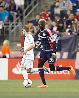 New England Revolution forward Saer Sene (39) at midfield. In a Major League Soccer (MLS) match, the New England Revolution defeated Vancouver Whitecaps FC, 4-1, at Gillette Stadium on May 12, 2012.