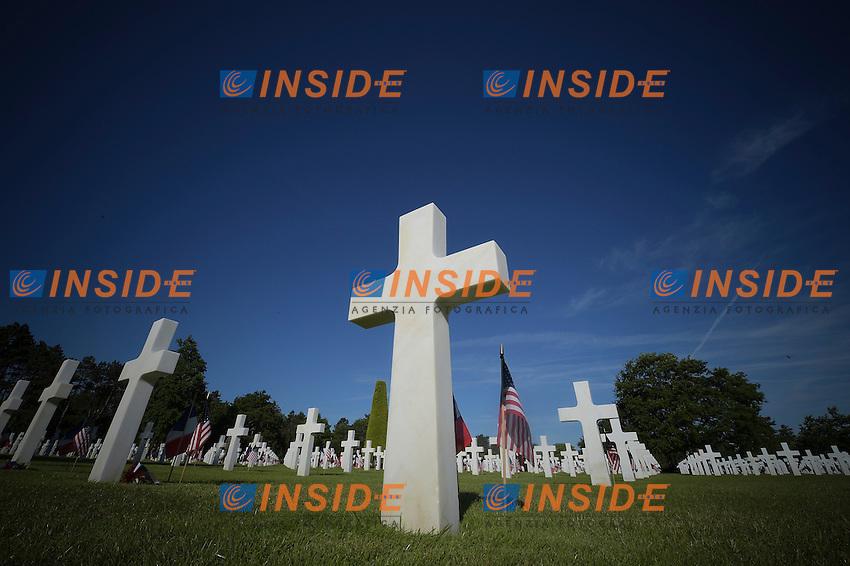 Colleville sur Mere Normandia. 06-06-2014 Cimitero Americano.<br /> 70mo anniversario dello sbarco in Normandia durante la seconda guerra mondiale. <br /> Foto Jb Autissier Panoramic / Insidefoto
