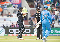 Ross Taylor (New Zealand) challenges the decision against him with a review during India vs New Zealand, ICC World Cup Semi-Final Cricket at Old Trafford on 9th July 2019