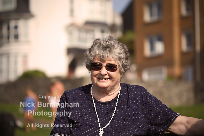 Portrait of smiling elderly lady - EXCLUSIVELY AVAILABLE HERE
