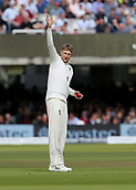 9th September 2017, Lords Cricket Ground, London, England; International test match series, third test, Day 3; England versus West Indies; England Captain Joe Root arranges his fielders, as he prepares to bowl the last over before lunch