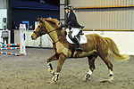 Stapleford Abbotts. United Kingdom. 21 October 2018. Class 6. Unaffiliated Christmas showjumping. Brook Farm training centre. Stapleford Abbotts. Essex. UK. 21/10/2018.  MANDATORY Credit Ellen Szalai/Sport in Pictures - NO UNAUTHORISED USE - 07837 394578