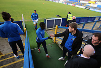 Macclesfield Town 1st team players wish the youth team good luck before the game during Macclesfield Town vs Kingstonian, Emirates FA Cup Football at the Moss Rose Stadium on 10th November 2019