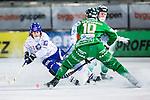 Stockholm 2013-11-26 Bandy Elitserien Hammarby IF - Edsbyns IF :  <br /> Edsbyn Daniel Jonsson i kamp om bollen med Hammarby Stefan Erixon och Hammarby Adam Gilljam  <br /> (Foto: Kenta J&ouml;nsson) Nyckelord:
