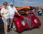 Sue and Al Grabowski with their 1939 Ford Coupe during the Hot August Nights Pre-Kickoff Party at the Bonanza Casino in Reno, Nevada on Sunday, August 6, 2017.
