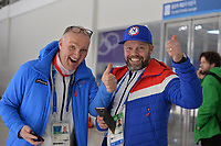 OLYMPIC GAMES: PYEONGCHANG: 19-02-2018, Gangneung Oval, Long Track, Roger Gjelsvik (coach NOR), Lasse Saetre (team NOR),  ©photo Martin de Jong