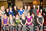 5905-5908.---------.Caterers get pampered.---------------------.Kerry General hospital catering staff were well looked after in the Grand hotel Tralee last friday night for their Christmas party,seated L-R Noreen Feehin,Catriona Keating,Shelia Curtin,Jackie Griffin,Kathleen O'Sullivan,Eileen Scanlon and Siobhan O'Rourke(back)L-R Sandra Donegan,Carmel O'Conner,Dawn Joy,Chris Collins,Aileen McElhinney,Mary Murphy,Kay O'Connell,Catriona Corkery and Eleanor Hennessy.