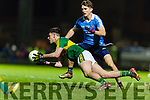 Jack Savage Kerry in action against Michael Fitzsimons Dublin in the National League in Austin Stack park on Saturday night.