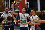 18.11.2017,  Lueneburg GER, VBL, SVG Lueneburg vs TV Rottenburg im Bild die Lueneburger Mannschaft jubelt/ Foto © nordphoto / Witke